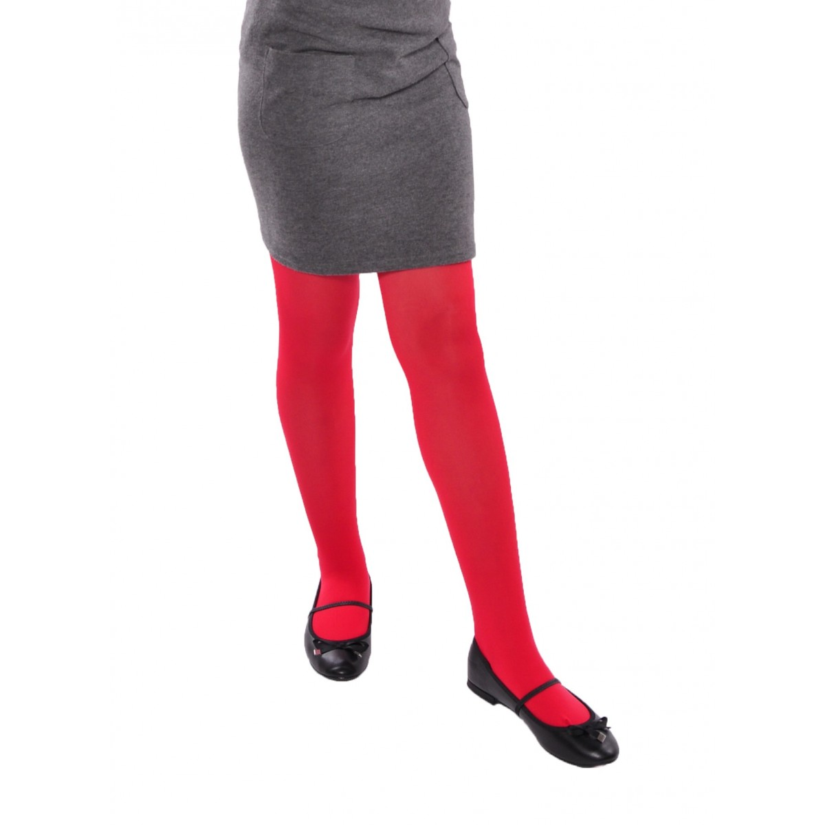 ec11c52bae869 School plain opaque girl's red tights Aurellie Aurellie-store ...