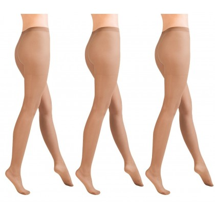 Classic Semi-Opaque Lycra Tights 40 Denier Range Of Colours 3 Pack