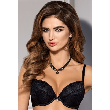 B-46 Black Push-Up Bra
