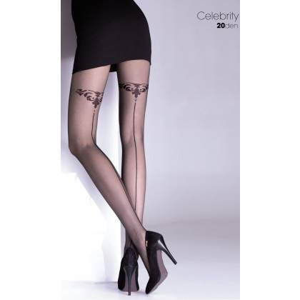 Celebrity Ladies Patterned Tights 20 Denier