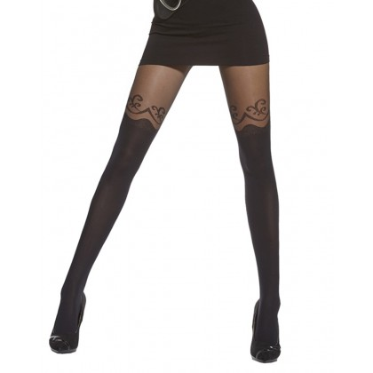 Colette Black Over the knee Pattern Tights