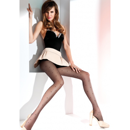 Emily fancy patterned transparent tights