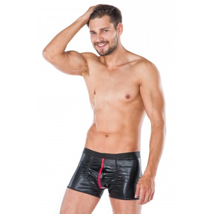 Men Black Wet Look Shorts Underwear Andalea MC/9051