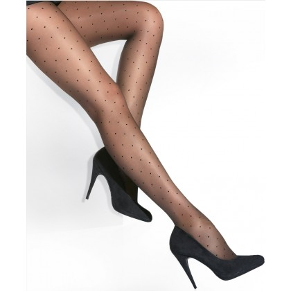 Plus size sheer polka dots tights