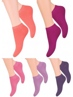 Women Girl Low Ankle Trainer Rich Cotton Socks 5 pair