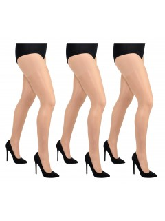 Plus size sheer delicate lycra tights 3Pack