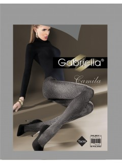 Camila Black Patterned Tights Gabriella