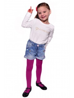 Kids Plain Tights 60 Denier Amaranth