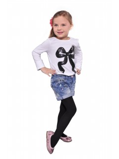 Kids Plain Tights 60 Denier Black