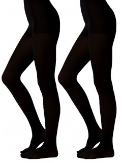 BACK TO SCHOOL GIRLS OPAQUE TIGHTS 2 PACK