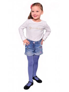 Kids Plain Tights 60 Denier Blue