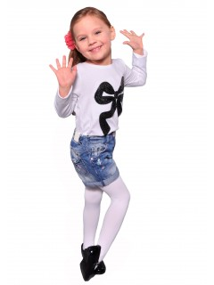 Kids Plain Tights 60 Denier White
