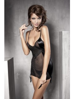 Affection Black Transparent Babydoll Anais