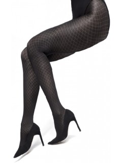 Annabell diamond pattern opaque tights