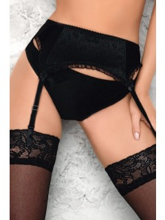 B-151 BLACK SUSPENDER BELT WIESMANN