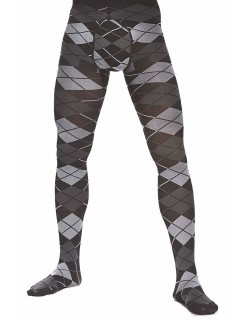 Grating 60 denier 3D Men Tights Black/Grey