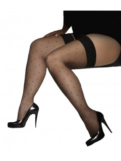 Plus Size Hold-Ups Stockings Gwenn 15 Denier