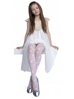 Hope Kids Tights 20 Den White Hosiery Age 5 - 8