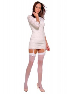 Katia Stockings Plus Size For Garter Belt 20 Denier White 1
