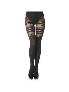 Keyra Ladies Black Patterned Tights
