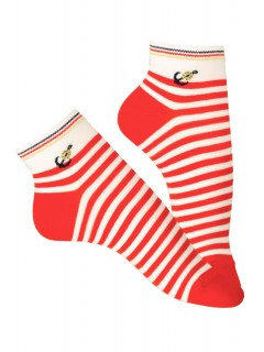 Women Girl Low Ankle Trainer Pattern Rich Cotton Socks 1 pair