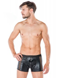 Men Black Wet Look Shorts Underwear Andalea MC/9054