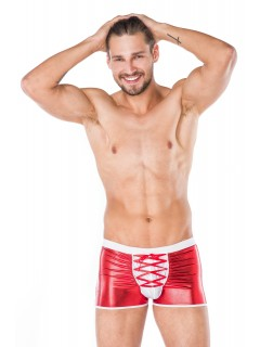 Men Red Wet Look Shorts Underwear Andalea MC/9091