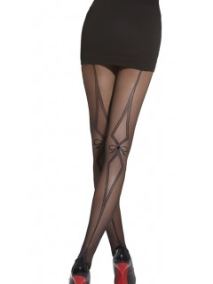 Mika Black Tights Patterned