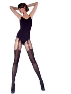 Moira Black Ladies Patterned Tights 40 Denier