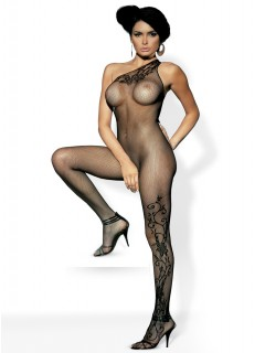 F 203 Black Bodystocking By Obsessive