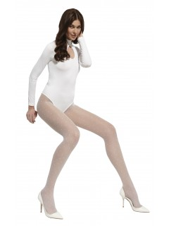 Pips White or Ecru Patterned Tights 20 Denier Wedding Collection