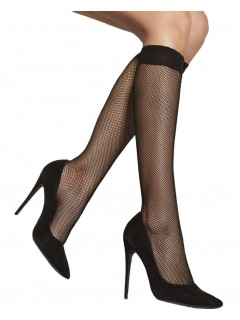 Fishnet Knee Socks Small Scale One Size 1 Pair
