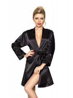 Long sleeve satin kimono robe Betty