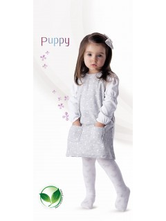 Puppy Kids White Tights