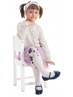 Rabbit White tights for Kids