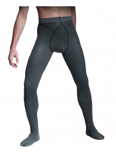 Strips 40 denier Grey Men Tights