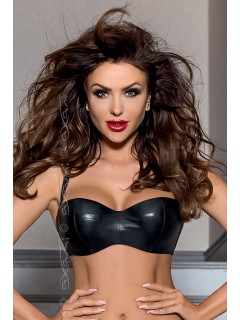 V-6351 Piment black balconette bra axami