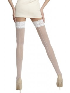 Vintage White Hold-Ups Stockings